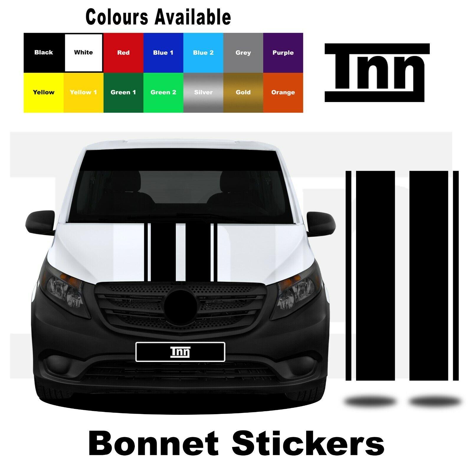 Fits Vauxhal Car Bonnet Stripes Car Stickers Car Decal Racing Stripes,Stickers