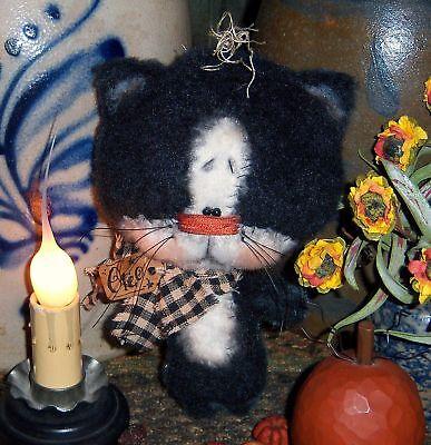 Primitive Black Cat Halloween Ornie Doll Paper Pattern #608