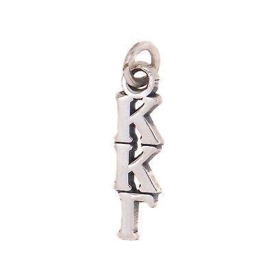 Kappa Kappa Gamma Sorority Sterling Silver Lavalier with Chain