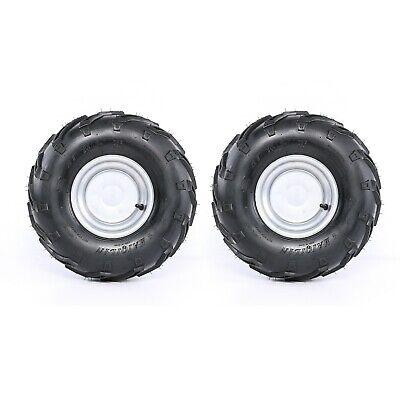 "2Pc 16X8- 7"" inch 3 Stud Wheel Rim + Tyre Tire fit Dirt Bike ATV Buggy Gokart 7"""