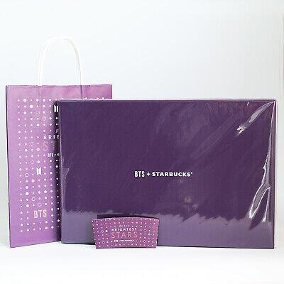 BTS STARBUCKS Korea Tartan Check Pouch Large + Cup Sleeve Paper bag Bangtan boys