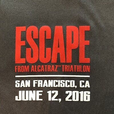 Escape From Alcatraz 2016 Triathlon T-Shirt L Athlete Participant Race Grey