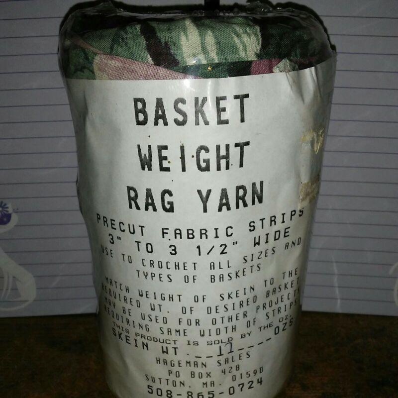 Rag Yarn Precut Fabric Strips Basket Weight Floral 17oz