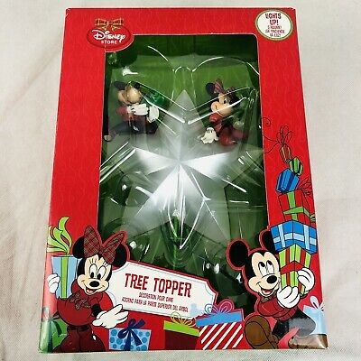 2013 Disney Store Mickey Minnie Mouse Light Up Christmas Tree Topper Tested