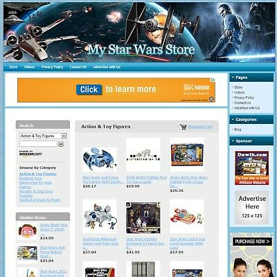 STAR WARS TOYS & GAMES STORE - Make Money with e-Commerce Dropship Website, HOT!, used for sale  Houston