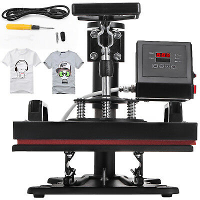 360 Degree T-shirt Heat Press Sublimation Transfer Machine 12 X 10 Swing Away