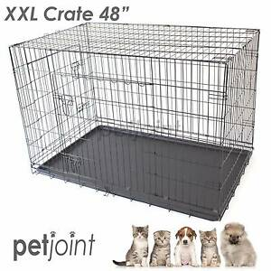 XXL Metal Wire Crate Divider Pet Dog Cat Puppy Rabbit Kennel Campbellfield Hume Area Preview