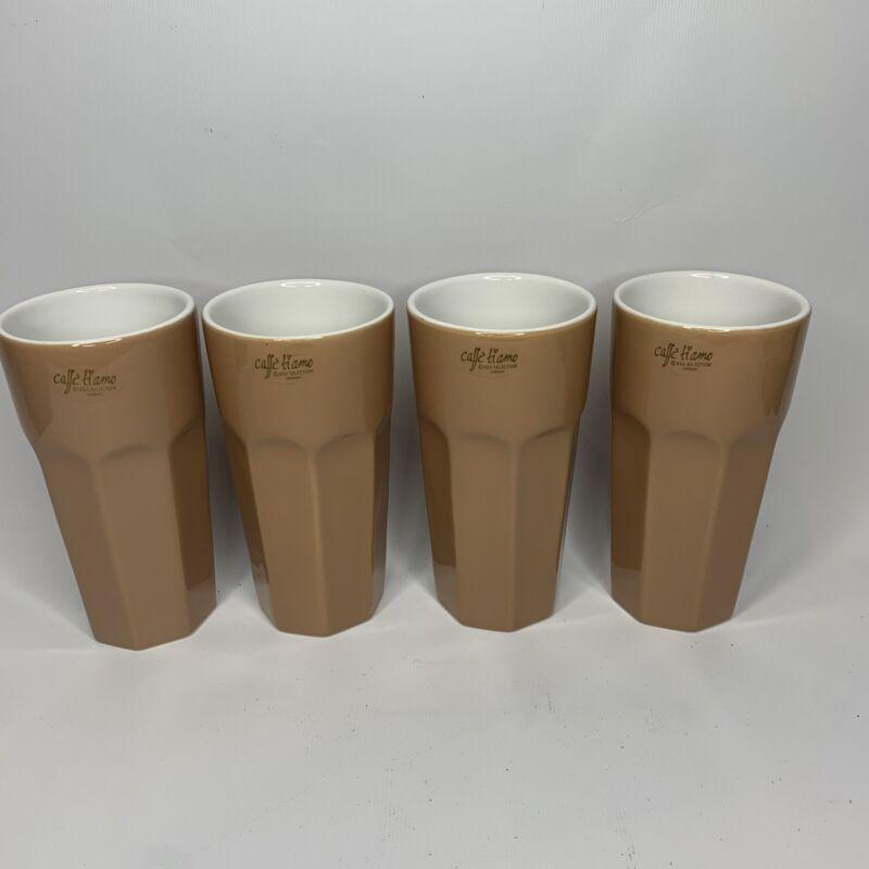 4 ASA SELECTION Germany Caffe Tiamo Ti Amo 8 oz Fluted Tumbler Coffee Cups
