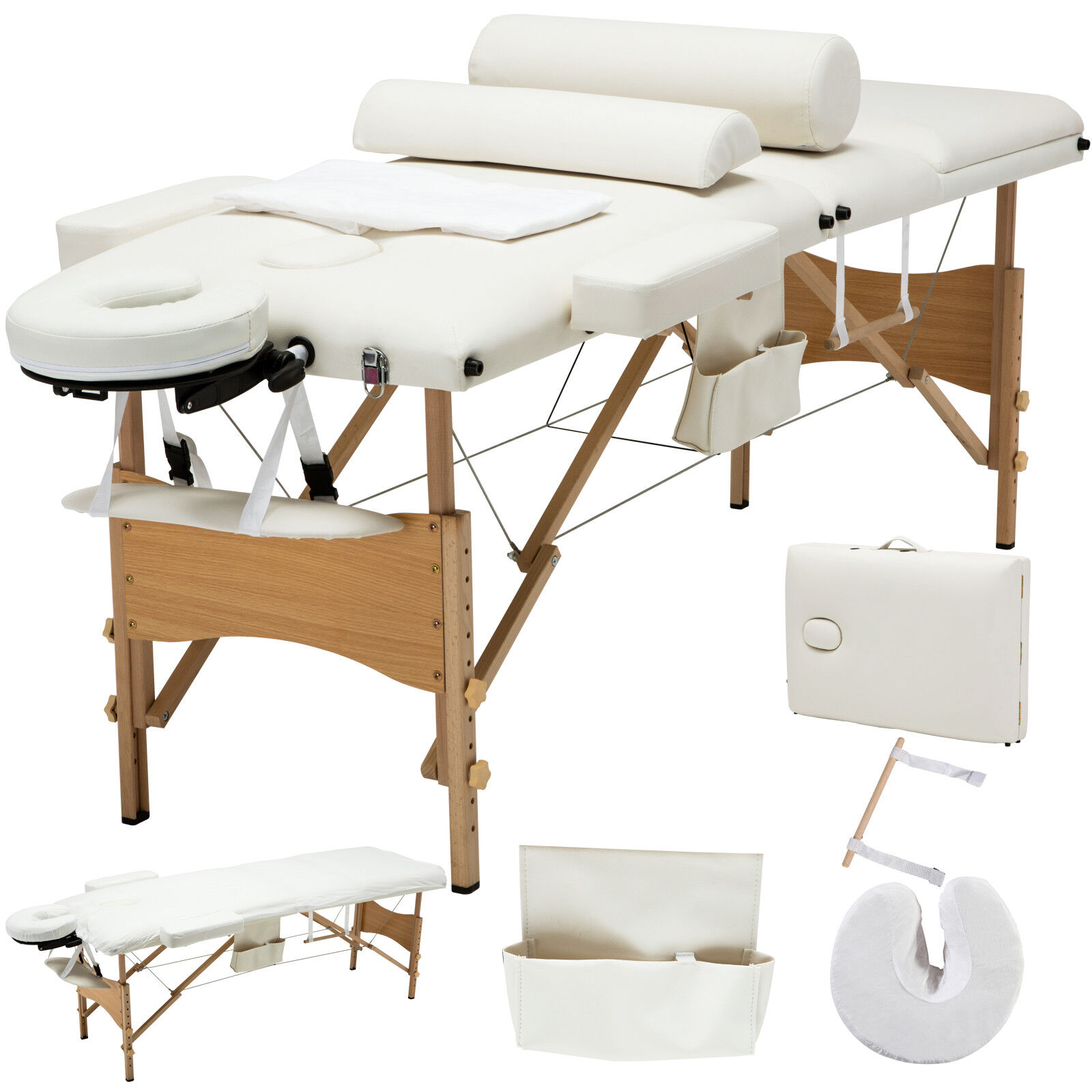 """Portable Massage Table Prices Portable Solar Power Station Uk Portable Outdoor Kitchen Uk 4tb Portable Hdd Price In Bangladesh: 84""""L Portable Massage Table 3 Fold Facial SPA Bed Sheet+2"""