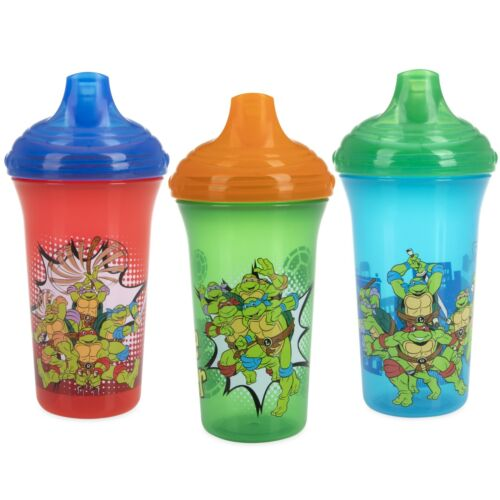 Nuby 3-Pack Teenage Mutant Ninja Turtles No-spill Easy Sippy Cups - Hard Spout