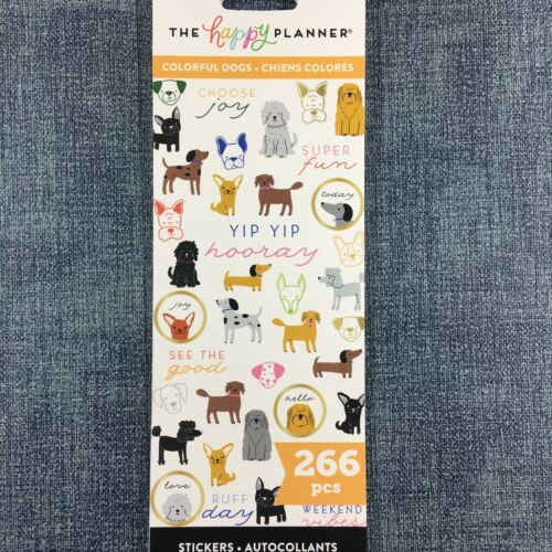 The Happy Planner Colorful Dogs Stickers Me & My Big Ideas Mambi