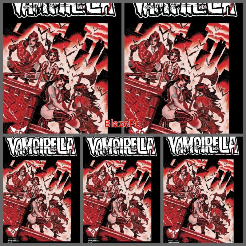 Vampirella #25 TMNT Homage Foc Bundle Options Dynamite Ken Haeser Presale 11/10