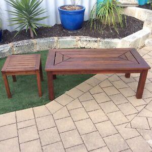 Hardwood Coffee Table x2