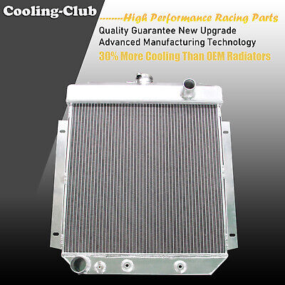 Fit 54-56 Ford Fairlane Skyliner Victoria Club V6 3 Row Aluminum Radiator 5456