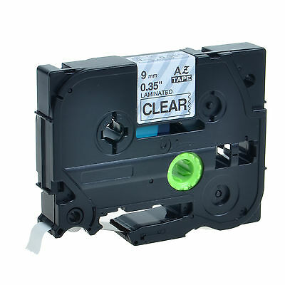 Black On Clear 9mm Tz Tze-121 Laminated Label Tape For Brother P-touch 9200pc