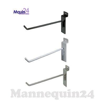 Slatwall Hooks For Slat Wall 4 - Black White Or Chrome - Free Shipping
