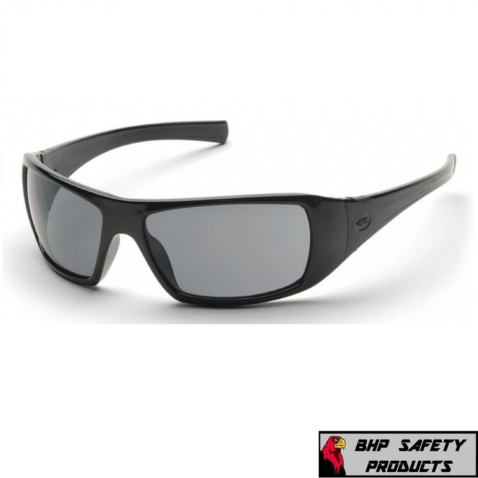 PYRAMEX GOLIATH SAFETY GLASSES MOTORCYCLE SPORT WORK SUNGLASSES Z87+ (1 PAIR) Gray Lens/ Black Frame SB5620D
