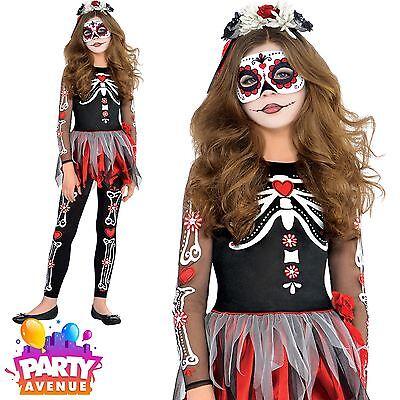 Girls Teen Scared To The Bone Undead Halloween Costume Fancy - Scared Children Halloween
