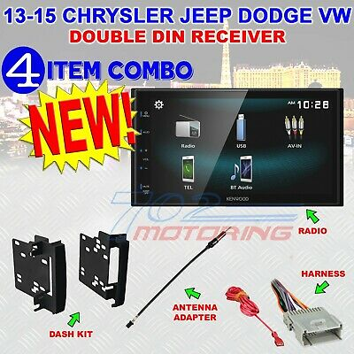CHRYSLER JEEP DODGE KENWOOD TOUCHSCREEN BLUETOOTH USB CAR STEREO RADIO PACKAGE