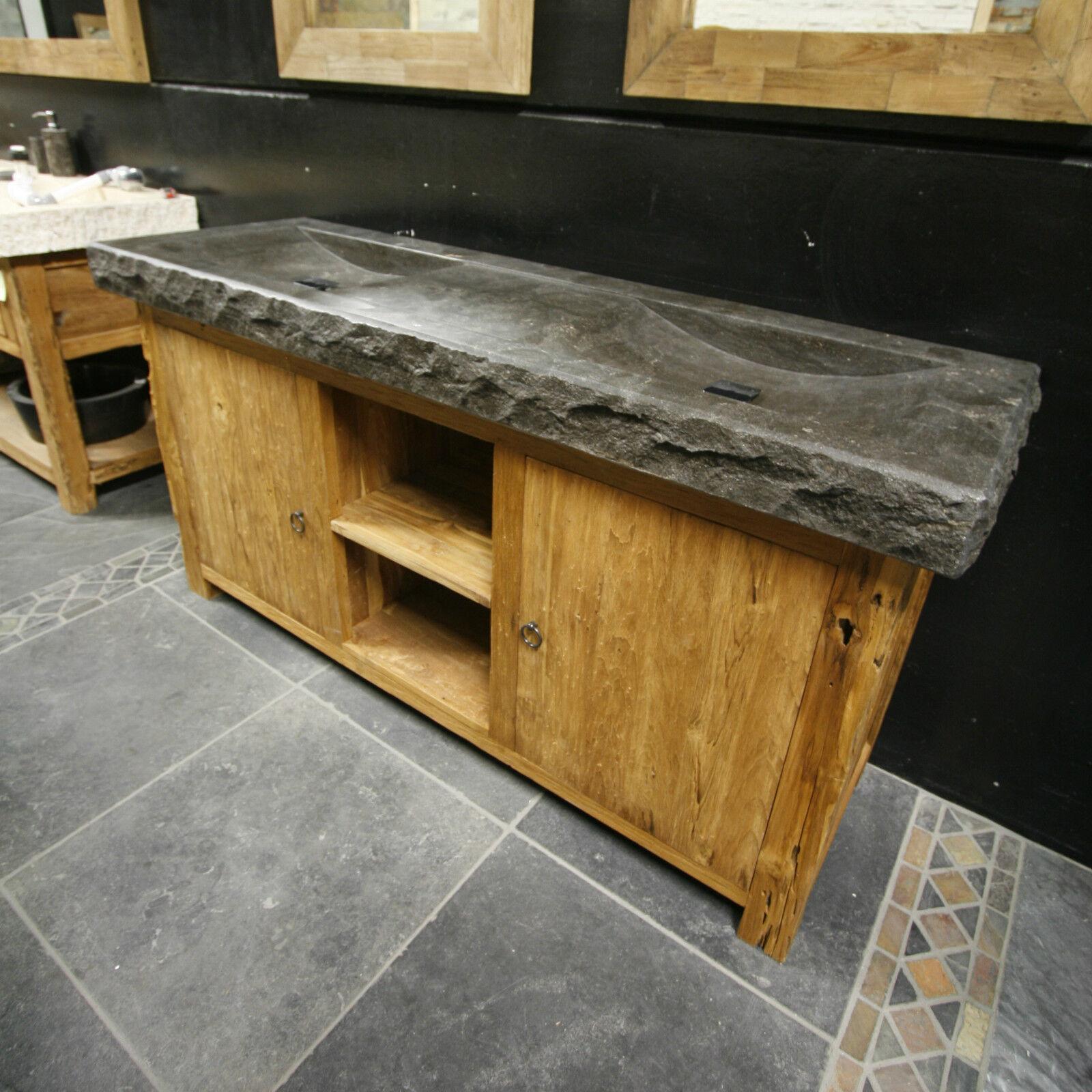 krakatoa badschrank waschtischunterschrank teak 170x55x78cm badm bel altholz eur. Black Bedroom Furniture Sets. Home Design Ideas
