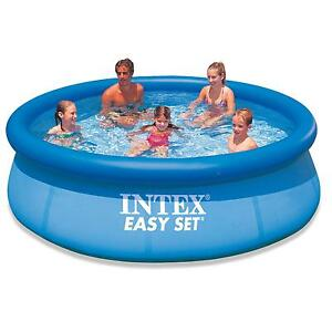 Intex easy fast set 10ft 10 39 foot family swimming paddling for Garden paddling pools