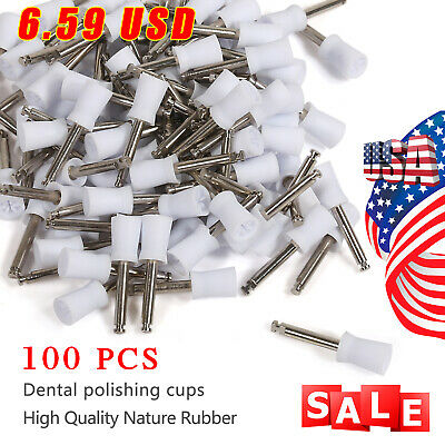 100pc Dental Latch Prophy Polishing Polisher Cup Cups For Contra Angle Handpiece
