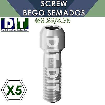 5 X Dental Screw Compatible Bego Semados 3.25 3.75mm Dental Implants