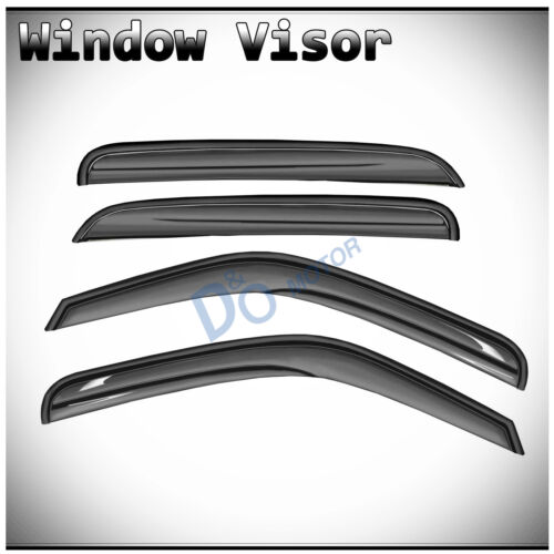 Owner 4Pcs 3D Wave Look Shade Window Vent Visors For Chevy/GMC/Cadillac SUV/Crew Cab