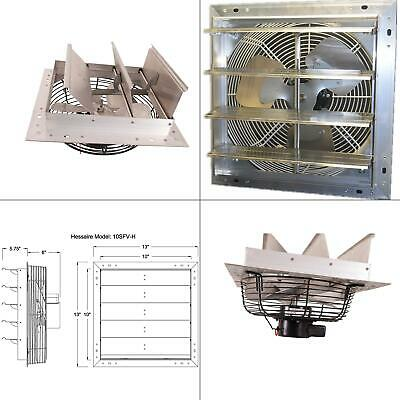 10 In. 600 Cfm Power Shutter Mounted Variable Speed Exhaust Fan Vent Automatic