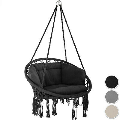 Outdoor Indoor Patio (Hanging Hammock Chair Outdoor Indoor Garden Patio Durable Swing Rope Cushion new)