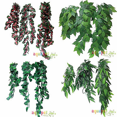 Reptile Vivarium Realistic Jungle Silk Plant Vine Decor Small Medium Large