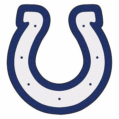 Colts Decorations (Indianapolis Colts Mascot Decorative Logo Cut Area Rug Floor)