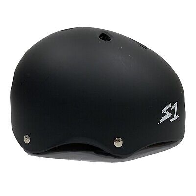 S1 S One Lifer Skateboarding Helmet Black Medium M