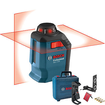 Bosch Gll 2-20 360 Degree Self-leveling Line And Cross Laser New