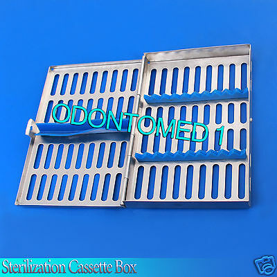 6x 10 Instrument Dental Surgical Sterilization Autoclave Cassette Tray Stainless