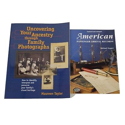 Lot of 2 Genealogy Books American Passenger Arrival Records Uncovering Ancestry
