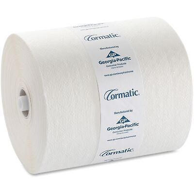 Georgia-Pacific 2930P Hardwound Roll Towels, 8 1/4 x 700ft, White, 6 Rolls/Cart