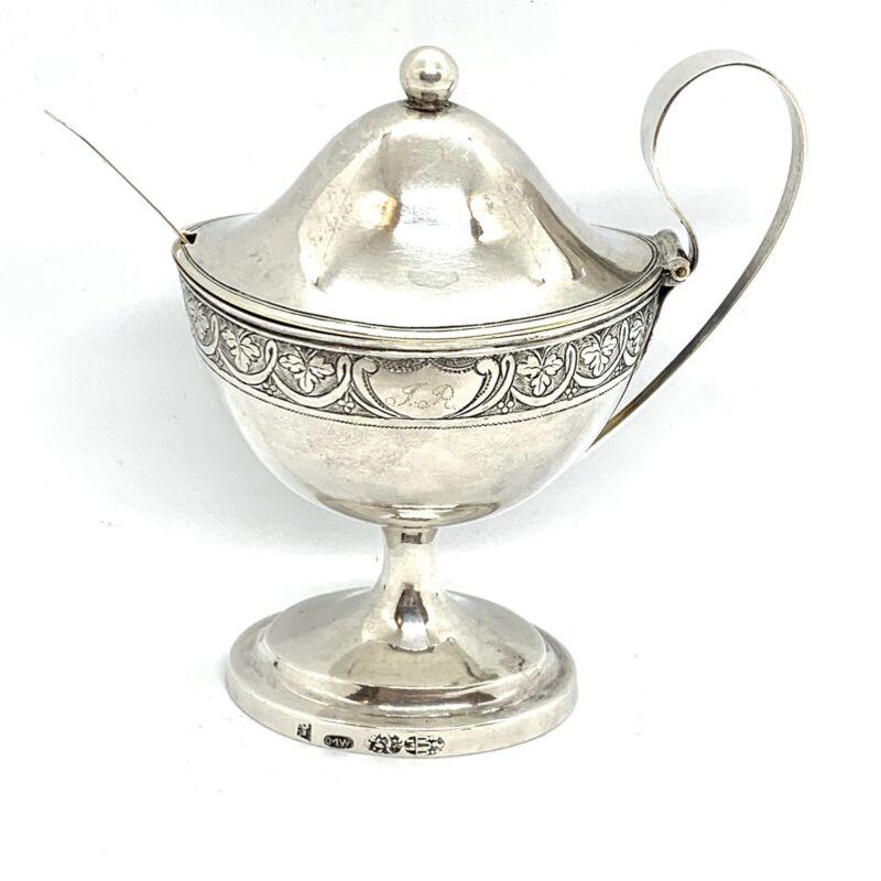 Antique 17-18c. Sterling Silver Mustard Pot.