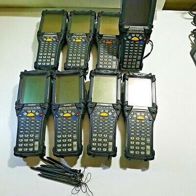 Lot Of 8 Motorola Symbol Mc9060 Touchscreen Scanners 8 X Batteries Charger