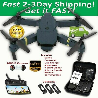 Drone X Pro EXTREME Foldable Quadcopter WIFI FPV 1080P HD Camera 3 Batteries