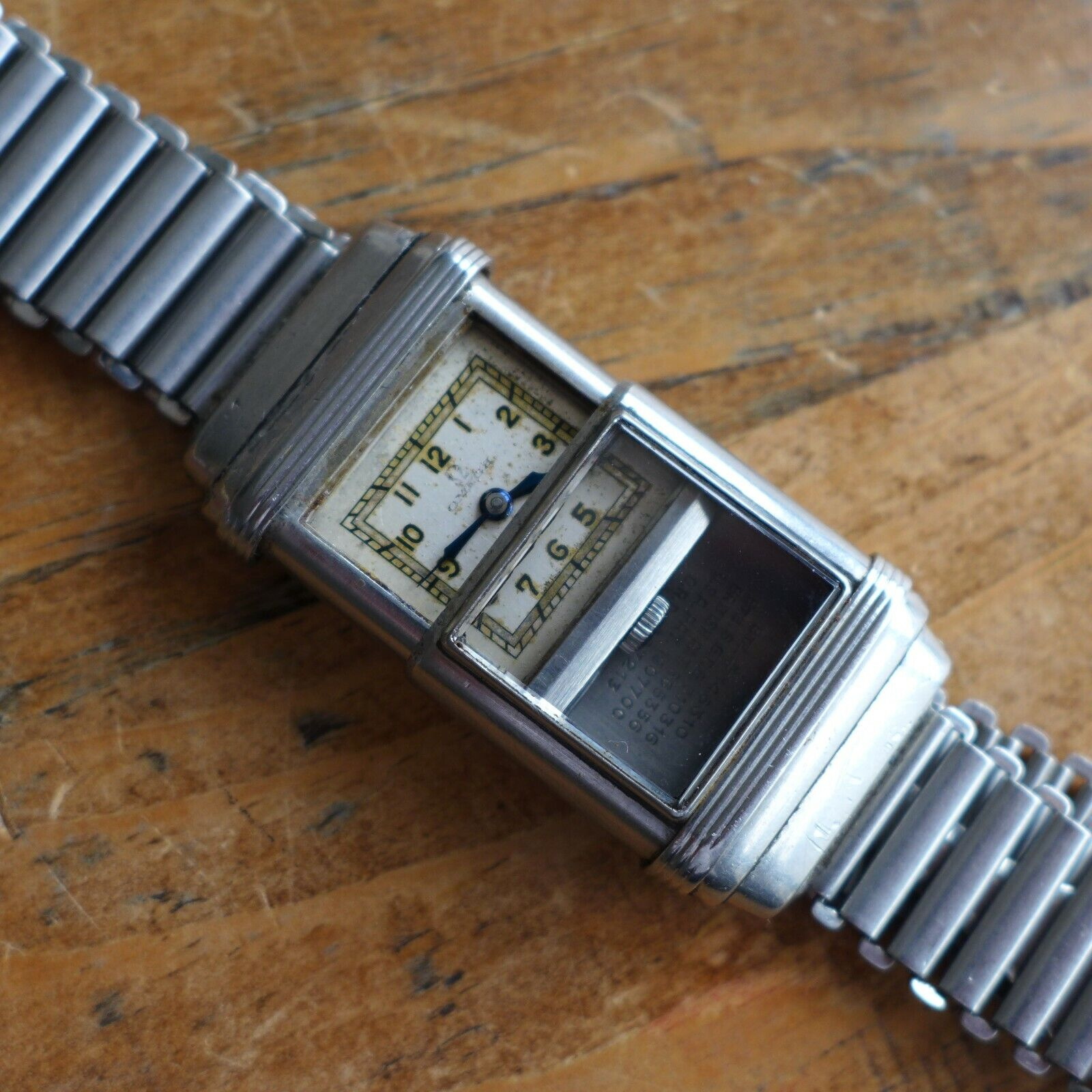 """A RARE VINTAGE 1930s OMEGA """"MARINE"""" MILITARY DIVERS BONKLIP STEEL WRISTWATCH - watch picture 1"""