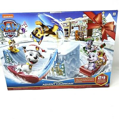 Paw Patrol Advent Calendar 24 Figurines Nickelodeon NIB Unopened Spinmaster