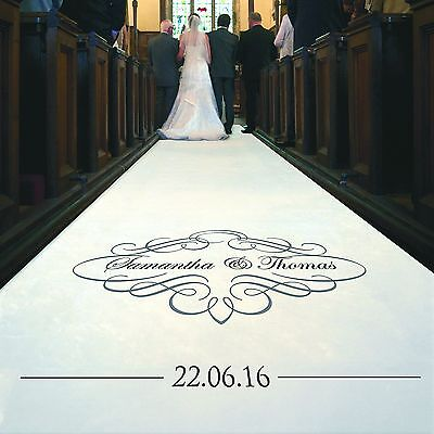 Personalised WEDDING AISLE RUNNER. Church Wedding Carpet Decoration.10 metre - Personalized Wedding Aisle Runner