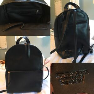Genuine Black Leather Small/Medium Backpack