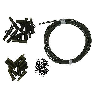 Karpfen Angel Set mit Tube Safety Clip System Vorfachmontage Rig Vorfach Nr 09