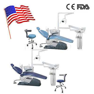 Dental Chair Unit Hard Leather Computer Controlled Assisant Chair Fda Wholeset A
