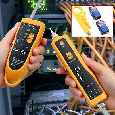 Telephone Phone Wire Line Tracker Toner Tracer Tester Lan Network Cable Rj4511