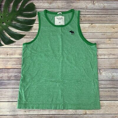 Abercrombie & Fitch Mens Tank Top Size XXL Green Striped Muscle Cotton Tee