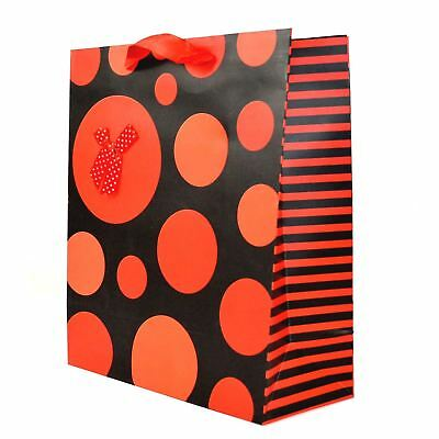 1 x Large Red Polka Dot Christmas Gifts Birthday Paper Bags Wrapping Present