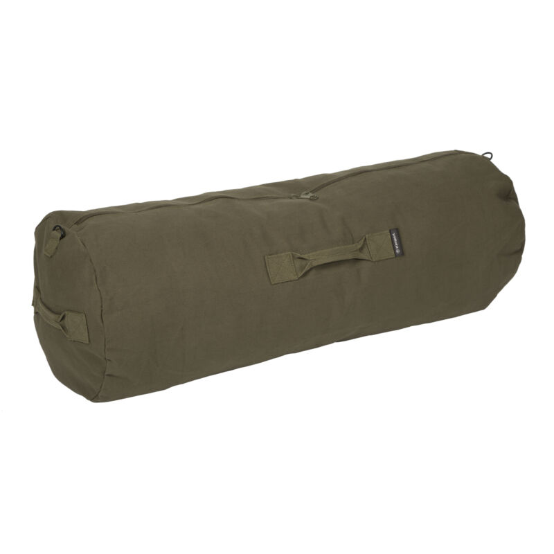 STANSPORT ZIPPERED MILITARY CANVAS DUFFEL BAG OUTDOOR TRAVEL CAMPING